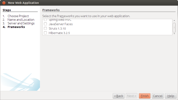 Configuring Frameworks