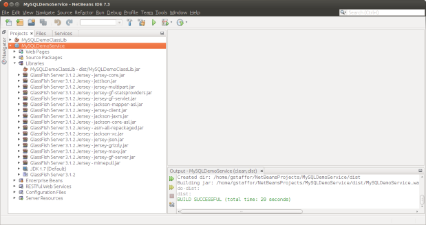 Libraries Loaded by NetBeans to Java Web Application