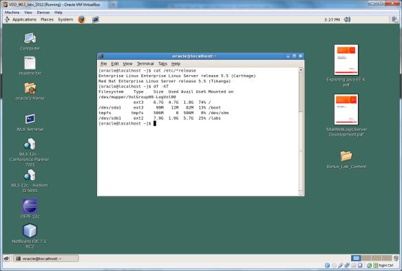 Resizing Oracle's Pre-Built Development Virtual Machines