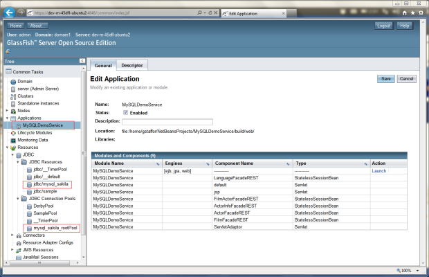 RESTful Web Services Deployed to GlassFish Server