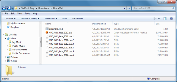 View of Final OVF File Ready for Import