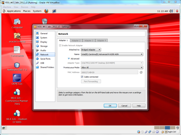 Using VirtualBox's Bridged Adapter Networking Mode