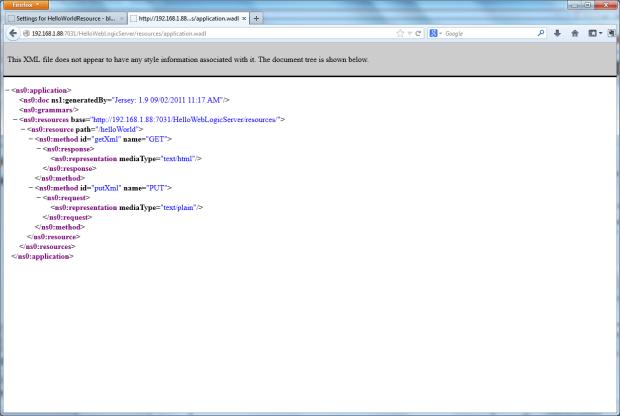 RESTful Web Service's WADL