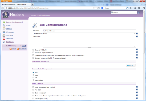 02 -Default Job Configurations