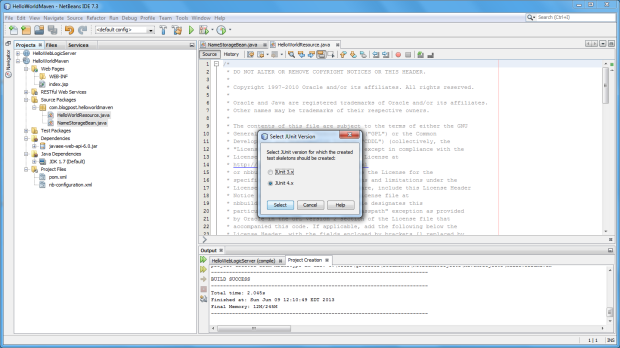 03b - Choose JUnit Version 4.x