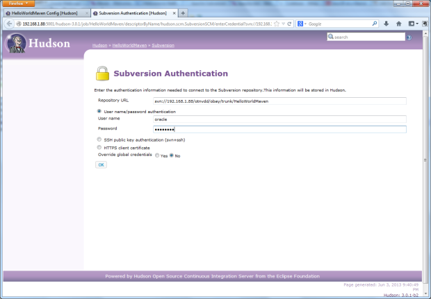 04 - Subversion SCM Authentication