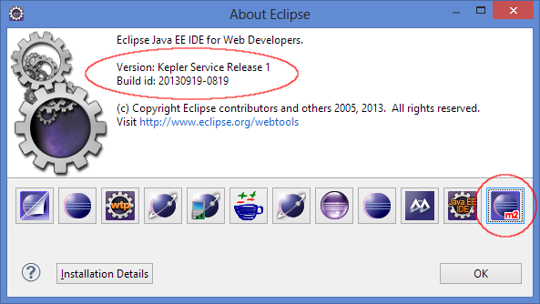 Latest Version of Eclipse Kepler SR1 with M2E Installed