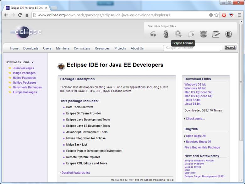 eclipse ide for java ee developers free download for windows 10