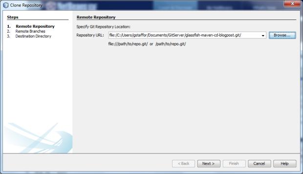 Clone New Bare Server Repository - Screen 1