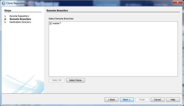 Clone New Bare Server Repository - Screen 2