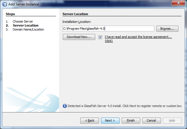 Create New GlassFish 4.0 Production Domain - Screen 2