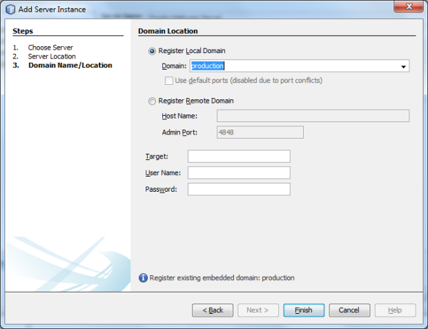 Create New GlassFish 4.0 Production Domain - Screen 3