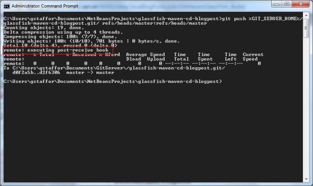 Example Post-Receive Hook - Works from Command Prompt