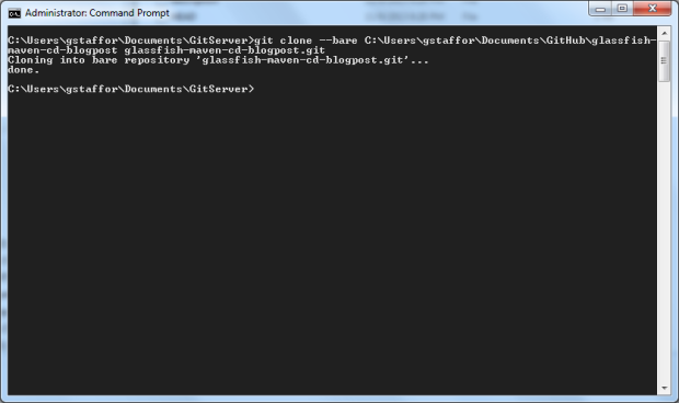 Export Local Project to New Bare Repository