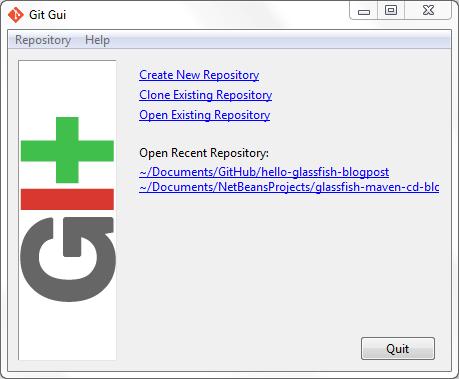 Git Gui Graphical User Interface for Git