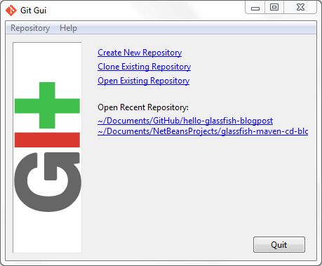 Git Gui Graphical User Interface for Git