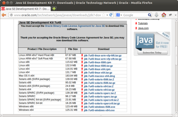Current Java JDK Downloads