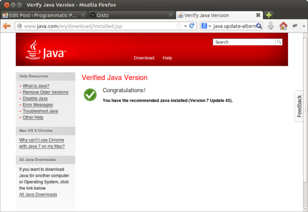Verify Java Version