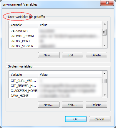 Windows 7 Environment Variables - Current User vs. System