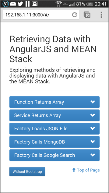 Retrieving and Displaying Data with AngularJS and the MEAN Stack