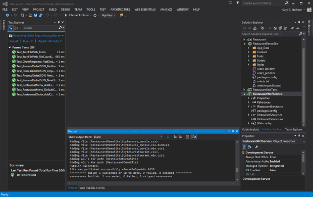 VS 2013 View of Solution