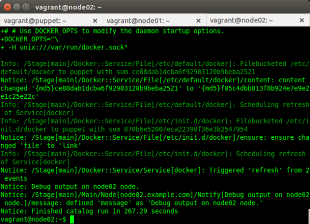 Configuration Run Completed on Puppet Agent Node
