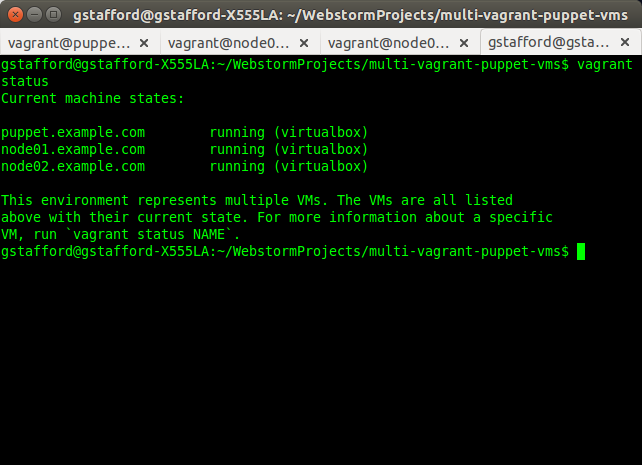 list all vagrant boxes 1