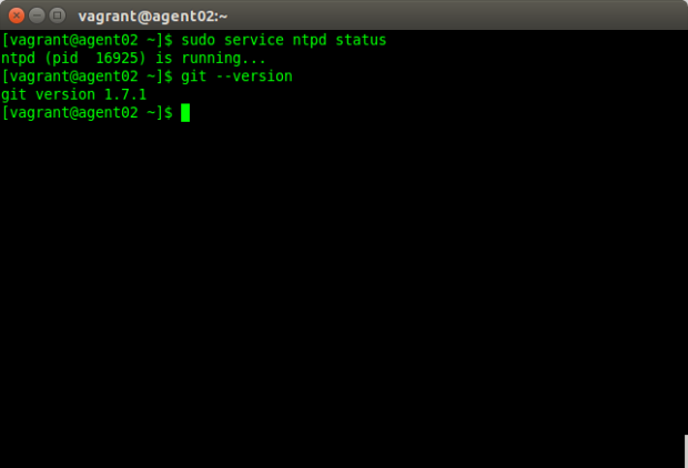 Agent Node with ntp and git Now Installed