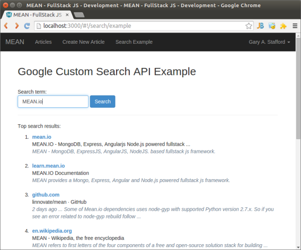 CustomSearchExample