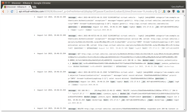 Kibana Discovery Message Types