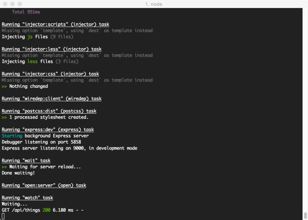 AngularJS Full-Stack App Started with Grunt