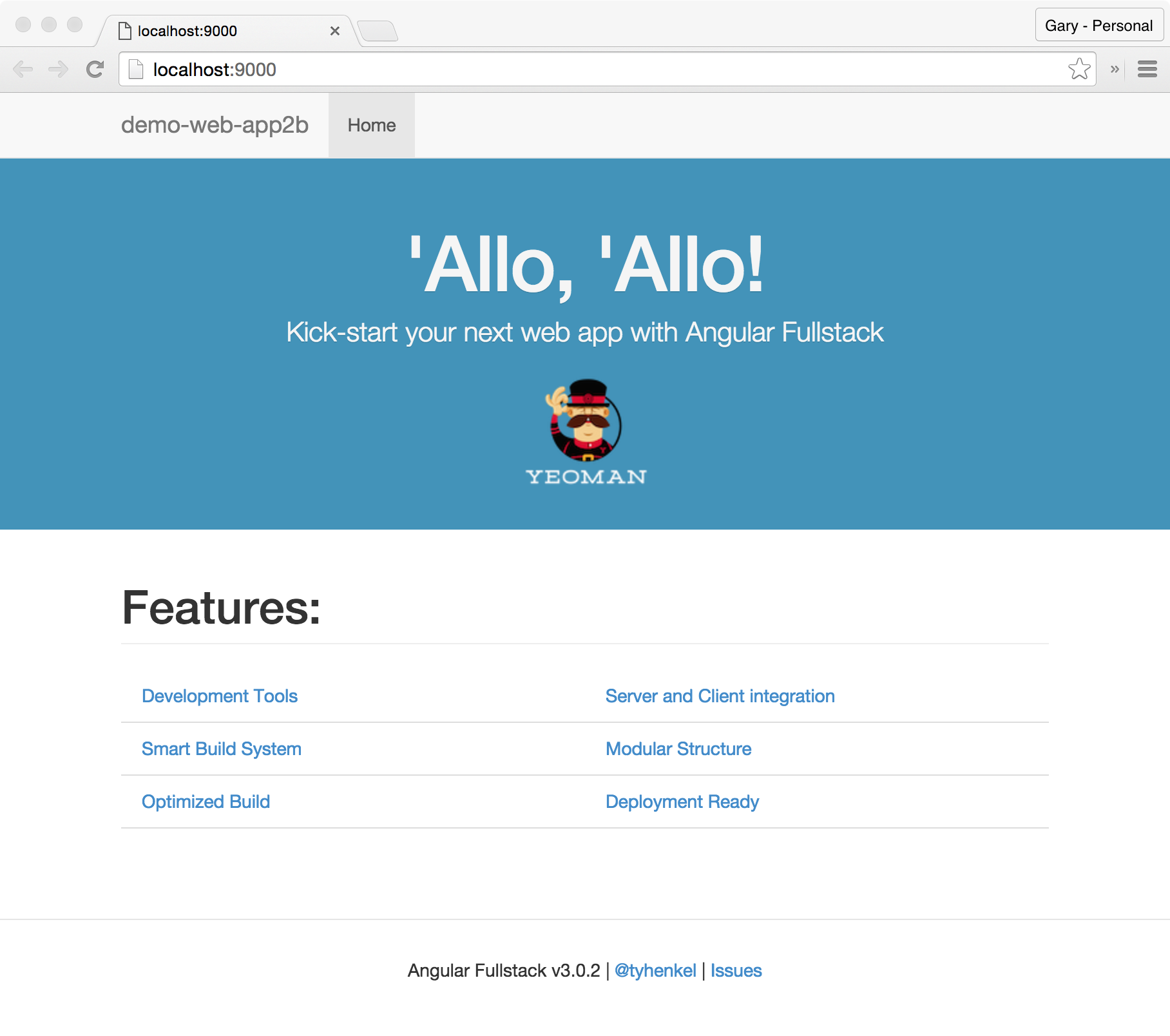 AngularJS Full-Stack App Running in Browser