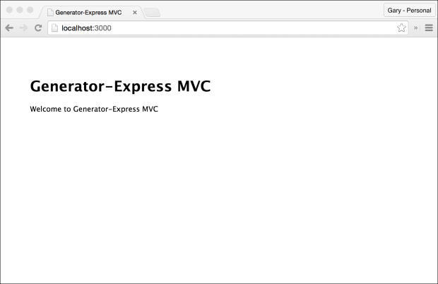 Default Express-Generator Application