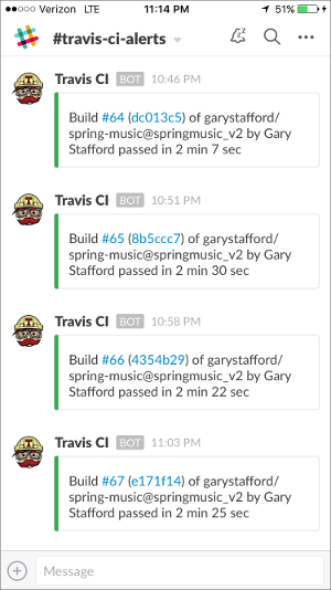 Travis CI Slack Notifications