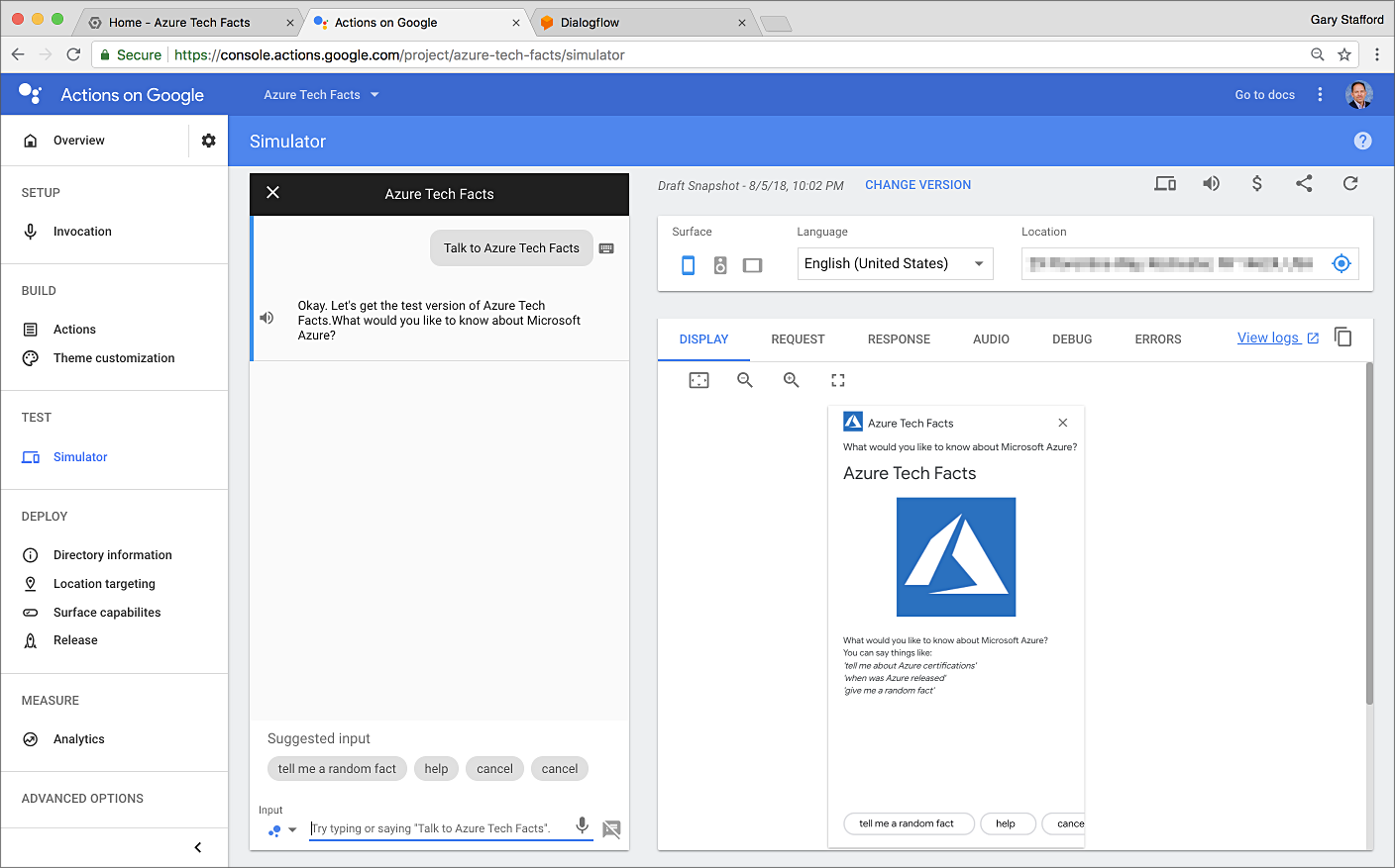 Building Serverless Actions for Google Assistant with Google Cloud