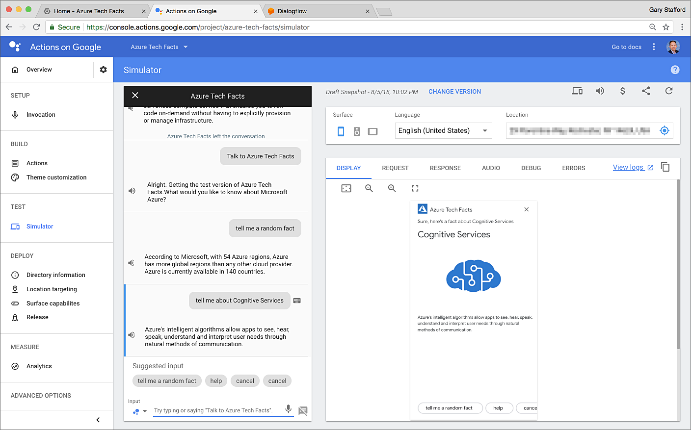Building Serverless Actions for Google Assistant with Google