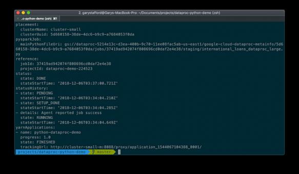 Big Data Analytics with Java and Python, using Cloud