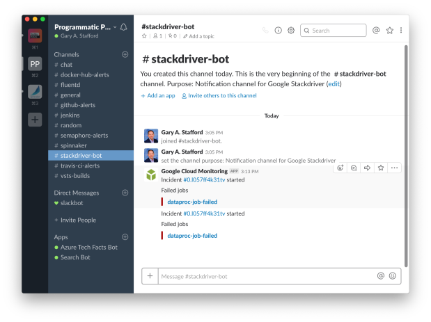 Stackdriver | Programmatic Ponderings